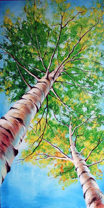 akril tájkép festmény