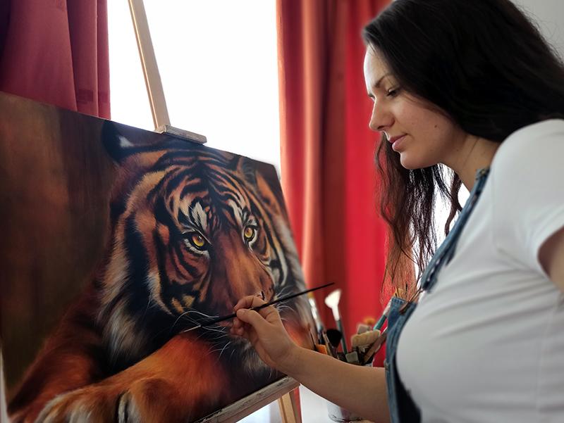 Tigris állat festmény