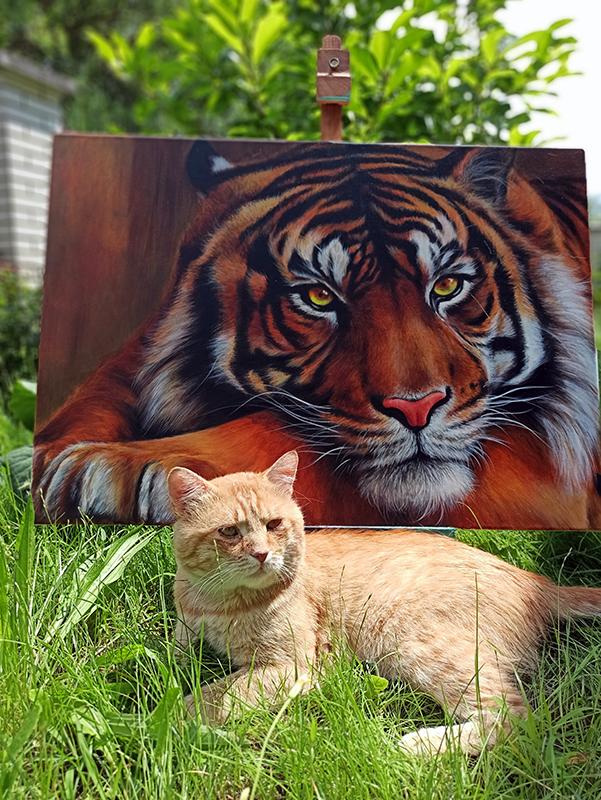 tigris festmény
