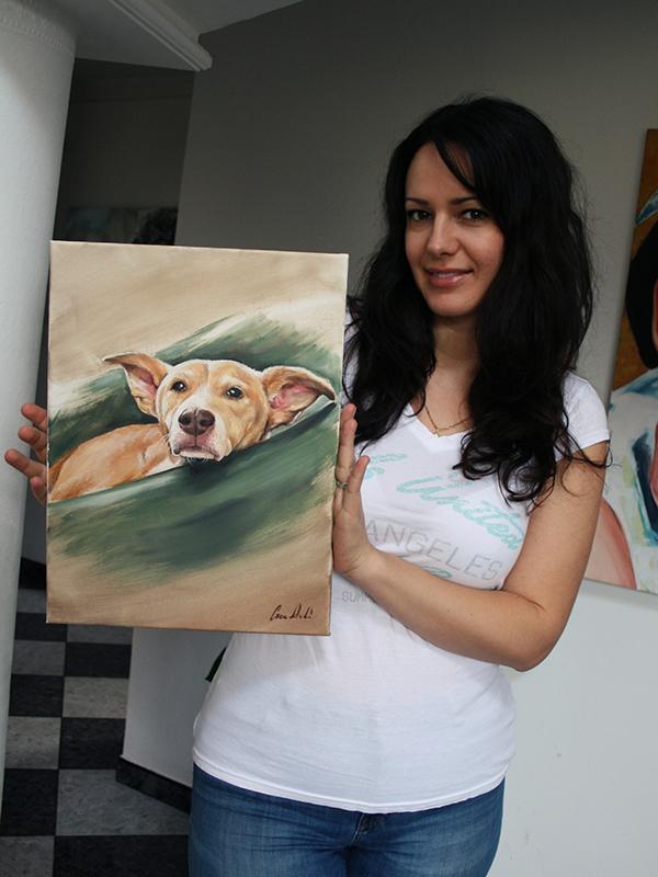 Kutya olaj festmény