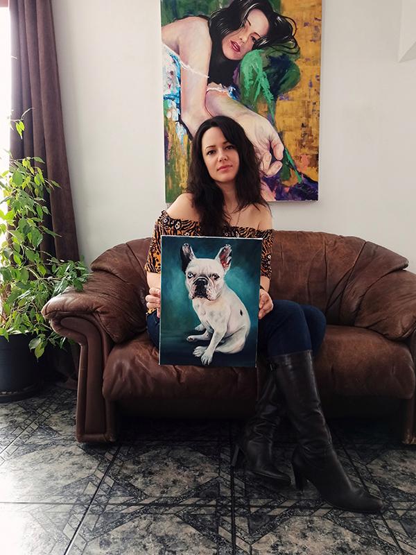Kutya portré festmény