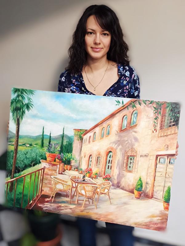 Olaj festmény toscana