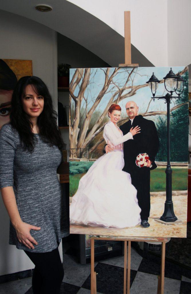 Esküvői portré festmény