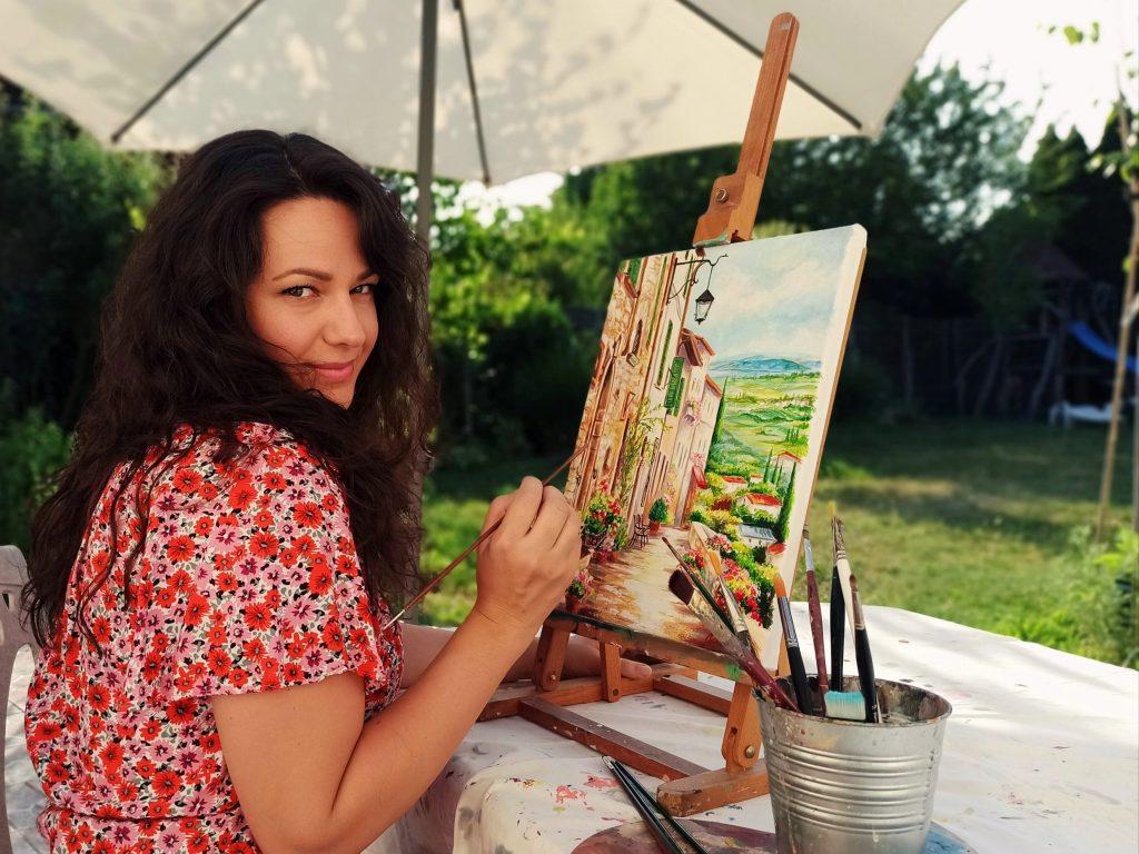 Toscana tájkép festmény