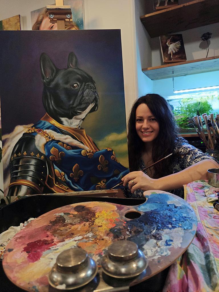 Kutya festmény
